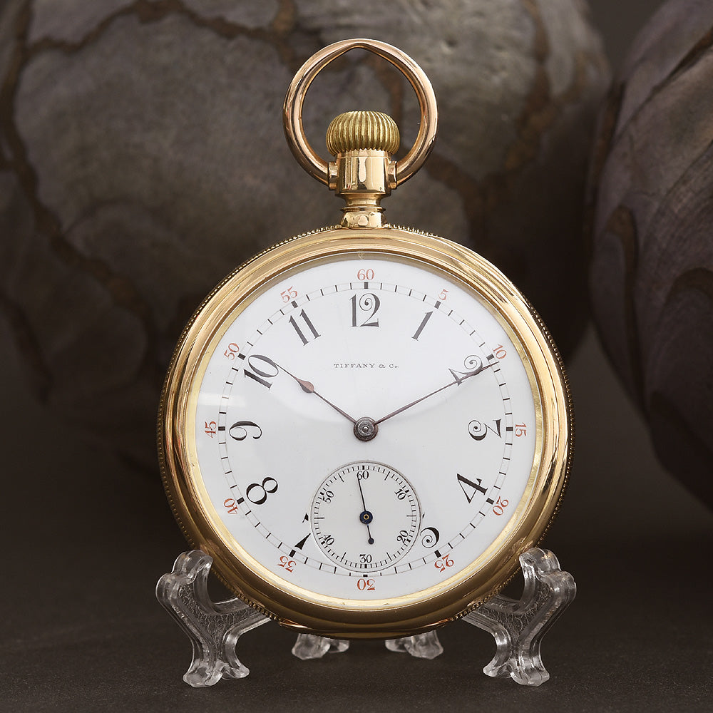 1900s TIFFANY & Co Agassiz 18K Gold Swiss Pocket Watch