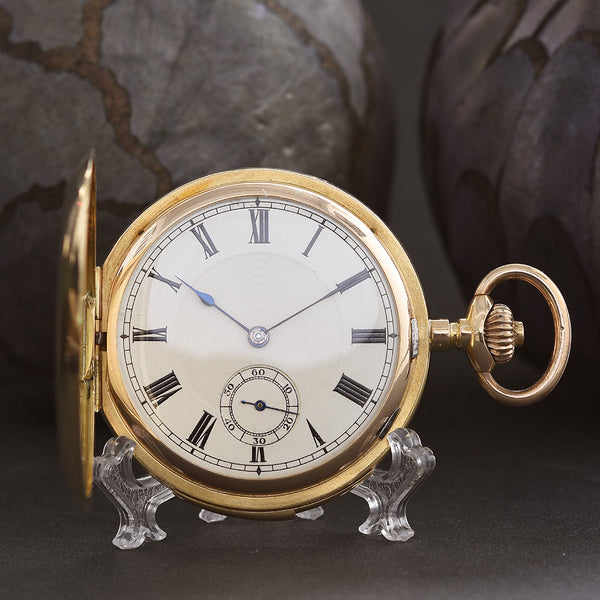 1920s LUGRIN RUEFF Freres Minute Repeater 18K Gold Swiss Pocket Watch