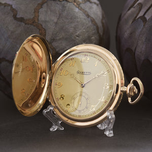 20s LEVRETTE 14K Gold Swiss Savonette Pocket Watch