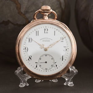 1903 A. Lange GLASHÜTTE 14K Gold Saxon Pocket Watch