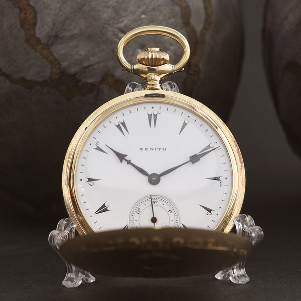 1922 ZENITH 14K Gold Ottoman Market Swiss Pocket Watch