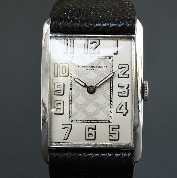 20s AUDEMARS PIGUET Gents Platinum Art Deco Watch