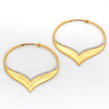 Satin hoop earrings