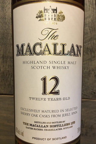 The Macallan 12 Year Highland Single Malt Scotch Whisky 750ml