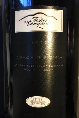 Fisher Vineyards Coach Insignia Cabernet Sauvignon, Napa Valley 1999
