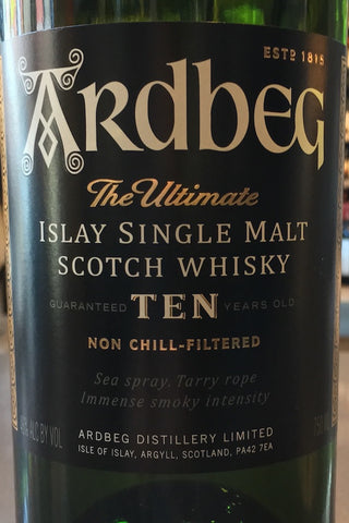 Ardbeg 10 Year Islay Scotch 750ml