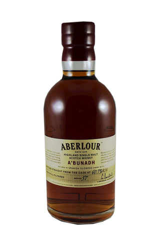 "Aberlour Highland Single Malt Scotch Whisky A'Bunadh (""of the Origin"") 750ml"