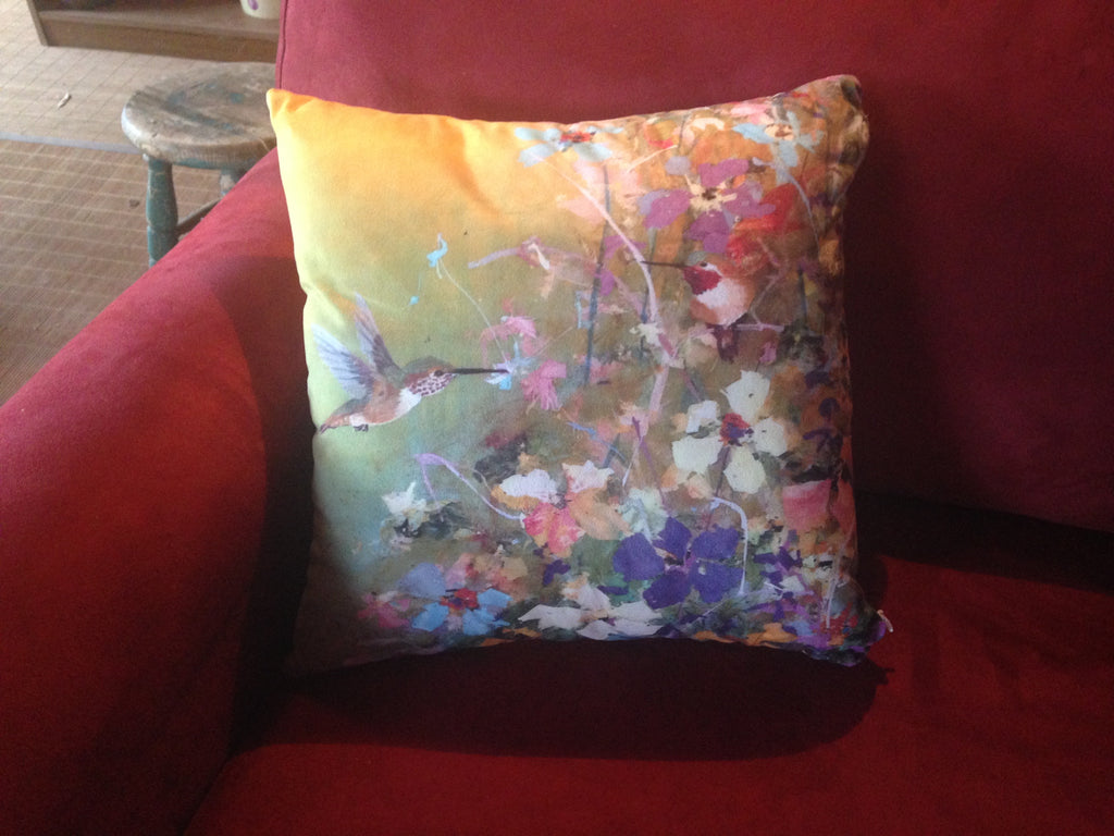 The Hummingbird Pillows are in