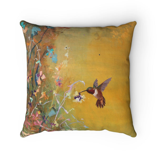Spun Polyester Square Pillow - Wonderland Family II