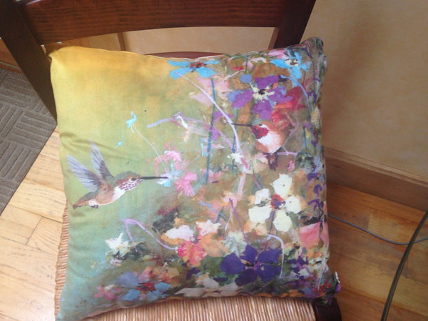 Faux Suede Square Pillow- Wonderland Family Part I