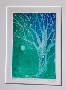 11x14 matted Wintertree Girl