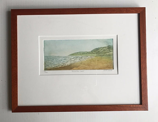 framed 12x16 Limantour Beach