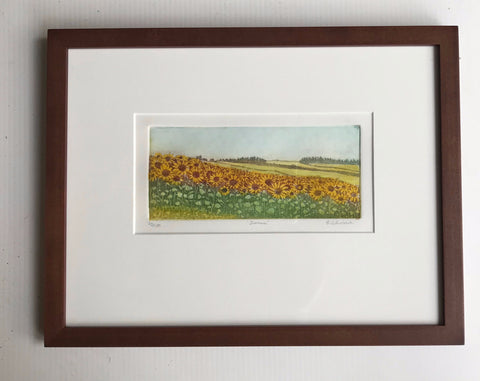 framed 12x16  Summer Sunflowers