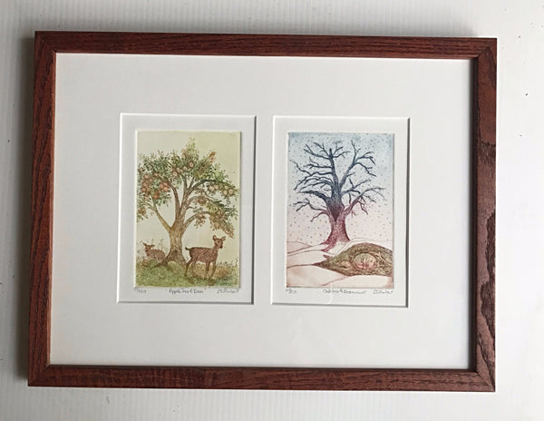 12x16  framed  Trees