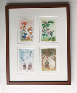 16x20 framed Four Season Flower Fairies