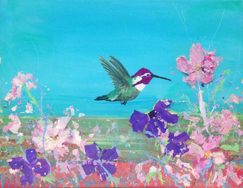 Costa Hummer in Spring flowers