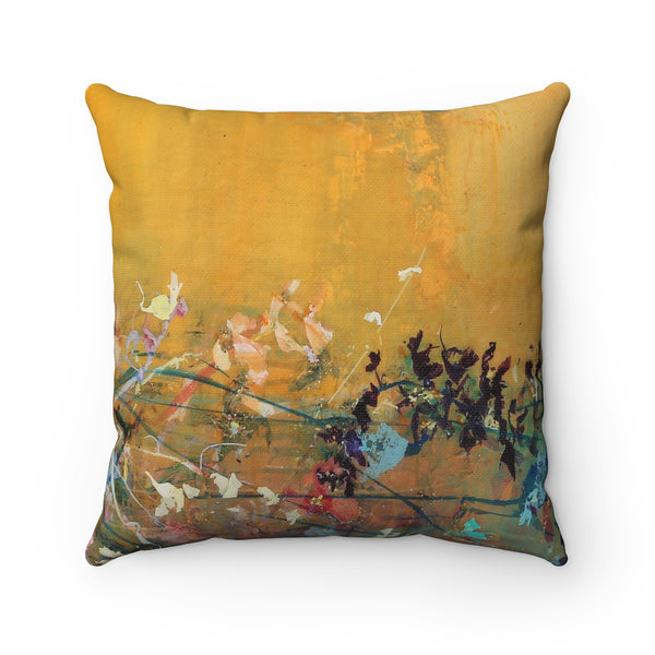Spun Polyester Square Pillow - Wonderland Family I