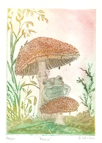 Frog Prince on the Mushroom