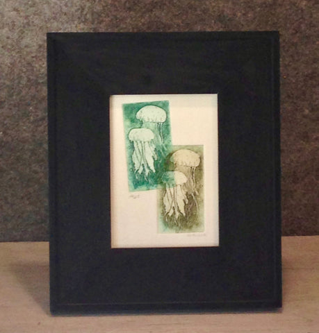 Framed Jellyfish Green on Green
