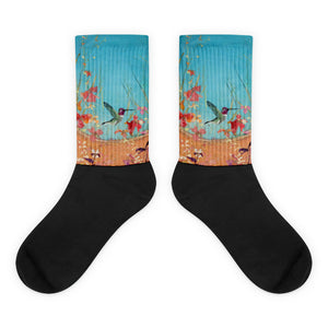 Wonderland  Anna - Black foot socks