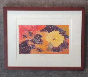 Framed Squash Flower