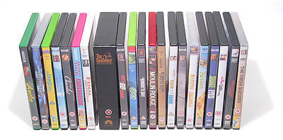 DVD storage rack with box set.