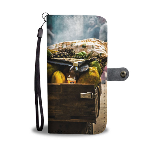 Custom wallet case. Original photography. Papaya for sale.