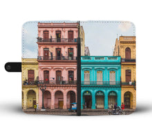 Custom wallet case. Original photography. Buildings. Old Havana.