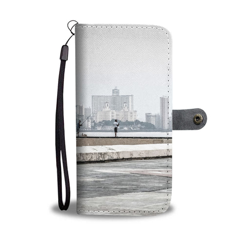 Custom wallet case. Original photography. Fishermen, Havana.