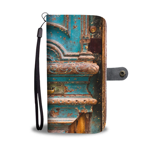 Custom wallet case. Original photography. Door, Havana.