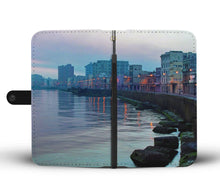 Custom wallet case. Original photography. Malecón (seawall). Havana