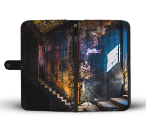 Custom wallet case. Original photography. Interior. Havana