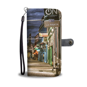 Custom wallet case. Original photography. Street, night. Santiago