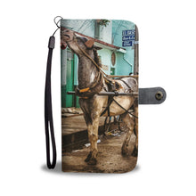 Custom wallet case. Original photography. Men and horse. Remedios