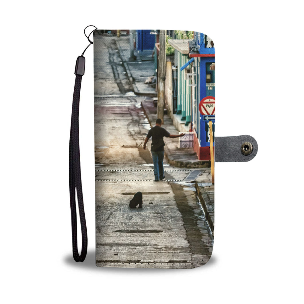 Custom wallet case. Original photography. Street. Baracoa