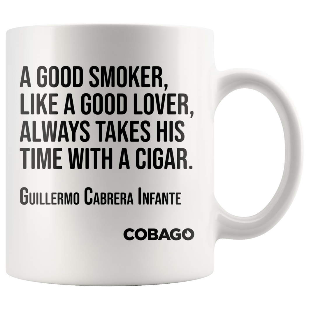 White Mug. Cigar Quotes. LOVER