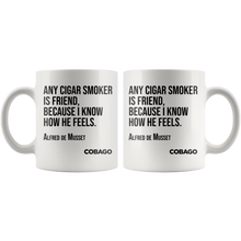 Black Mug. Cigar Quotes. FRIEND