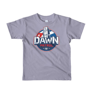 Dawn Patrol. Photographic workshops. (The Flag) Short sleeve kids t-shirt