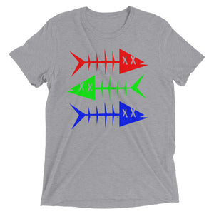 RGB fish. Short sleeve t-shirt