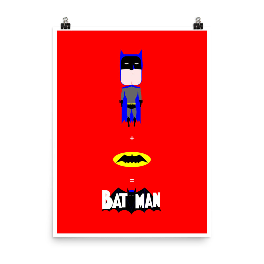 Wall decor. Forbidden posters. Bat+Man. 18 x 24 inches