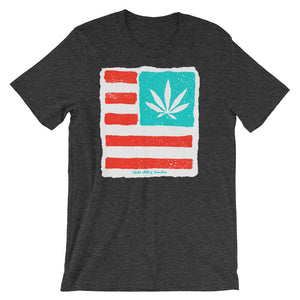 Short-Sleeve Unisex T-Shirt. United state of Cannabica, Exclusive Print.