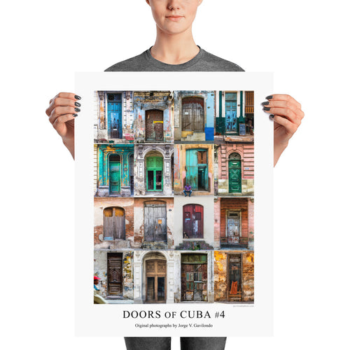 Poster. Doors of Cuba #4. Original photos by Studio Gavilondo. 18 x 24 in.