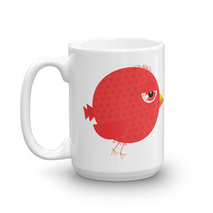 Stoned bird. White Glossy Mug