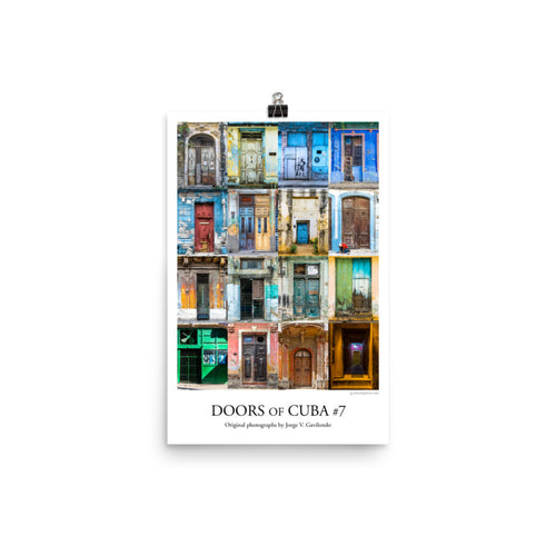 Poster. Doors of Cuba #7. Original photos by Studio Gavilondo. 12 x 18 in.