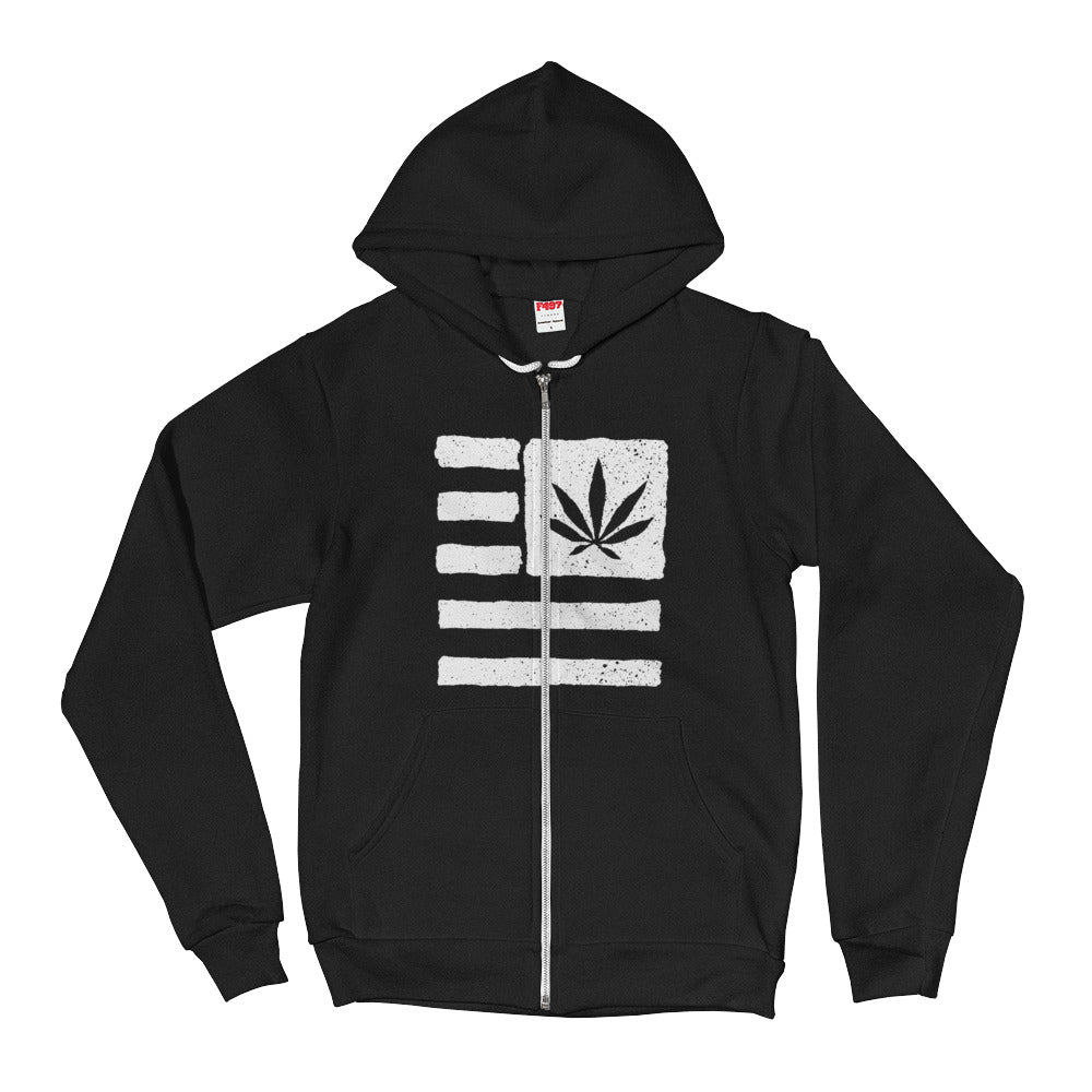 Hoodie sweater. United State of Cannabica.