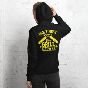 Don't mess with the Grill Master. Unisex hoodie