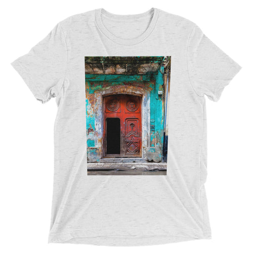 Vermillion door, Havana. Short sleeve t-shirt