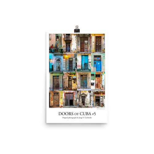 Poster. Doors of Cuba #5. Original photos by Studio Gavilondo. 12 x 18 in.