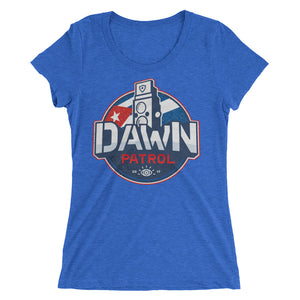 Ladies' short sleeve t-shirt. Dawn Patrol. Photographic workshops. Havana, Cuba. The Flag.