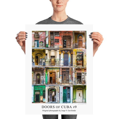 Poster. Doors of Cuba #9. Original photos by Studio Gavilondo. 18 x 24 in.